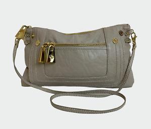 MISCHA Ladies Womens Bag Beige Clutch shoulder Handbag