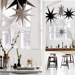30cm Hanging Star Party Paper Lamp Shade Lantern Christmas Tree Decoration Star