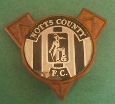 Notts County V Shaped Club Crest Insert Football Brooch Pin