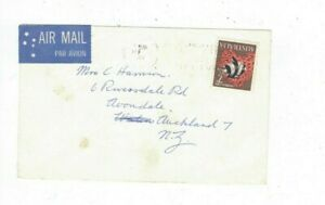 Australia 1968 7c Fish on Airmail Cover to NEW ZEALAND