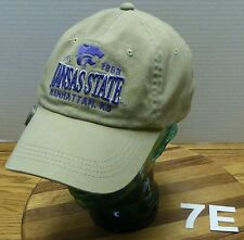 STARTER KANSAS STATE WILDCATS HAT WITH AMERICAN FLAT CLIP ON PIN ADJUSTABLE VGC