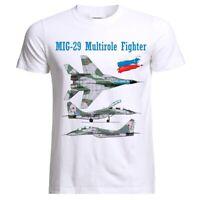 MIG 29 Air Fighter Aircraft Jet Flugzeug Blueprint USSR Russia T-Shirt