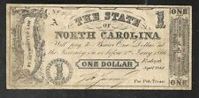State of North Carolina Obsolete One Dollar Note - 1866 - F/VF