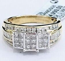 Past Present Future 10k Yellow Gold Three Stone Princess-Cut Quad Diamonds Ring