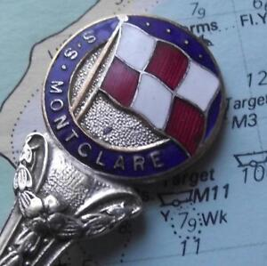 Old SS / HMS WW2 Montclare Canadian Pacific Armed Cruiser Enamel Finial Spoon