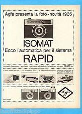 QUATTROR965-PUBBLICITA'/ADVERTISING-1965- AGFA - ISOMAT RAPID