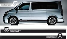 VW Transporter T5 Seiten Streifen VW Dub T4 Kurzer Radstand Grafik Aufkleber