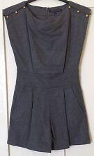 NEW French Connection Grey Melange Wool Playsuit Size XS, UK 6