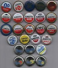 25 different AMSTEL kronkorken beer bottle caps chapas tappi