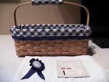 Longaberger 2003 Blue Ribbon Canning Basket - Never Used