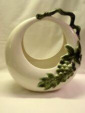 Hull Pottery Tokay Grapevine Moon Basket