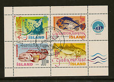 ICELAND: 1998 Fish series 1 Miniature Sheet SG MS901 fine used