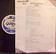 Radio Show: LIVE FROM GILLEY'S JOHNNY LEE 3/24/84 11 SONGS & 8 MIN ROCK MEDLEY