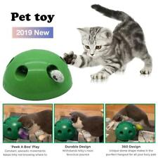 Automatic Pop N' Play Interactive Motion Cat Toy Mouse Tease Electronic Pet Toy