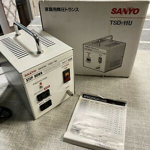 Sanyo TSD-11U Step Down Transformer Power Supply Japan AC to AC 120 to 100 Volt