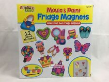 Make Your Own Fridge Magnets Mould & Paint Craft Set For Kids ~ Design Varies