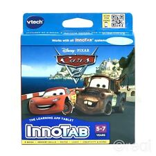 New VTech InnoTab Cars 2 Game Lightning Mcqueen Mator Pixar Disney Official