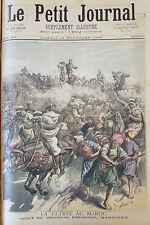 MAROC GUERRE BATAILLE MORT GENERAL ESPAGNOL MARGALLO GRAVURE PETIT JOURNAL 1893
