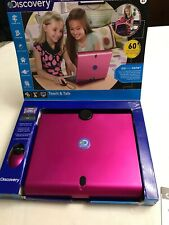 DISCOVERY Kids Teach & Talk Exploration Laptop Computer With Mouse Pink (EUC)