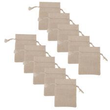 10x Small Bag Natural Linen Pouch Drawstring Burlap Jute Wedding Gift Sack