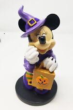 "6"" Halloween Minnie Mouse Witch w/ Pumpkin Statue Disney Figurine Figure"