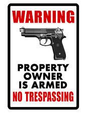 NO TRESPASSING Sign NO RUST ALUMINUM WEATHERPROOF SIGN full color
