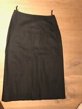 Enthusiastic Euc Ann Taylor 8 Solid Black Knee Length Flared Rayon Career Skirt And To Have A Long Life. Women's Clothing