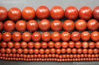 Natural Red Jasper Gemstone Round Loose Beads 2mm 3mm 4mm 6mm 8mm 10mm 12mm 16""