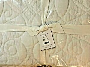 NEW Pottery Barn Foundations Washed Cotton Quilt WHITE Full Queen F/Q 2702996