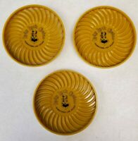 Lady Luck Casino Downtown Las Vegas - Three Vintage Yellow Coasters
