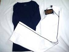 Set Womens NEW 29 ANLO White Flare Jeans w/Navy Trim & EUC M American Eagle Top