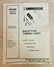 Sears Oem Timing Light Owners Manual 2 166301 For Model 161213400