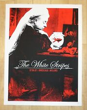 2007 The White Stripes - Milan Silkscreen Concert Poster by Rob Jones