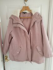 BON MARCHE LADIES BABY PINK HOODED PADDED JACKET COAT SIZE 18 RRP £50