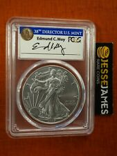 2017 W BURNISHED SILVER EAGLE PCGS SP70 MOY SIGNED FIRST DAY OF ISSUE FDI DENVER