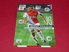 JEREMY TOULALAN AS MONACO FOOTBALL ADRENALYN CARD PANINI 2015-2016