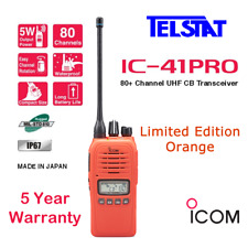 ICOM IC-41PRO IC41PRO Orange 5 watt Waterproof UHF CB Radio IC-41W