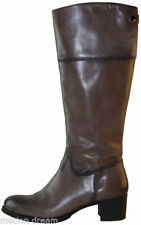 Leather Mid-Calf Solid Women's Boots
