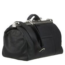 Greenburry Maulbügeltasche Arzttasche Leder schwarz Tasche Oily Tumbled Neu