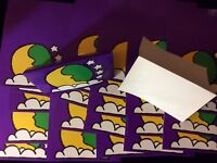 WOODSTOCK GROOVY POP ART 20 1960s COLOR BUTTERFLY FOLD OVER POSTCARDS  #15