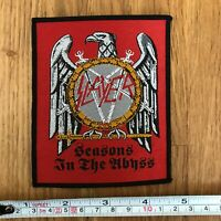 SLAYER Seasons In The Abyss Rare UK Embroidered Woven Sew On Patch