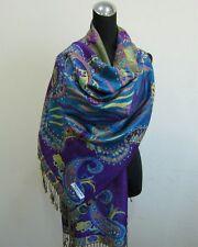 Pashmina foulard châle écharpe étole Cachemire laine soie s40