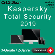 Kaspersky Total Security 2019 *3-Geräte / 2-Jahre* DE Vollversion  / KEY