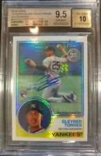 2018 GLEYBER TORRES TOPPS '83 SILVER PACK CHROME ROOKIE #147 Auto BGS 9.5 10 /99