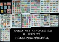 All Different Postage Stamp Collection From United States, Free World Shipping