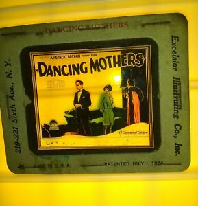"1926 ""Dancing Mothers"" Movie Theater Promotional COLOR Glass Slide Clara Bow"