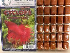 Premium Frozen Fish Food 5 x100g packs-Cyclops intense Red + vitamins-FREE P&P
