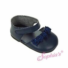 "Navy Blue Ankle Strap Dress Shoes Doll Clothes For 18"" American Girl"