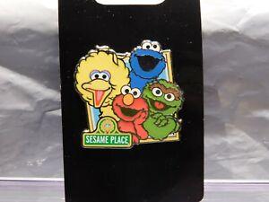 4 Core Character Frame Pin w/ Elmo Oscar Big Bird & Cookie Sesame Place Street