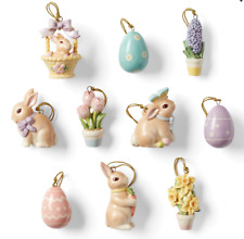 Lenox Celebrate Easter Miniature Tree Ornaments Set of 10